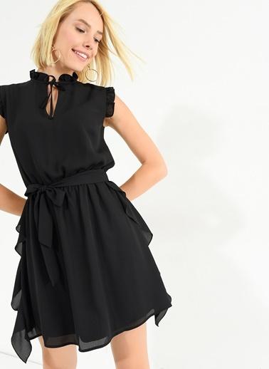Yakası Bağlamalı Elbise-Agenda